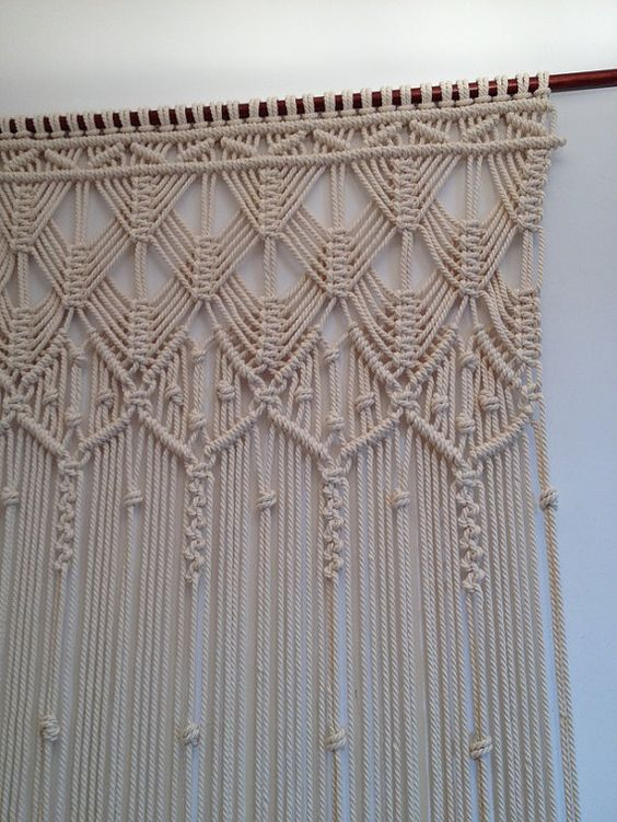 Macrame Curtain Handmade Macrame Wall By Mislanascreativas Around The House Pinterest