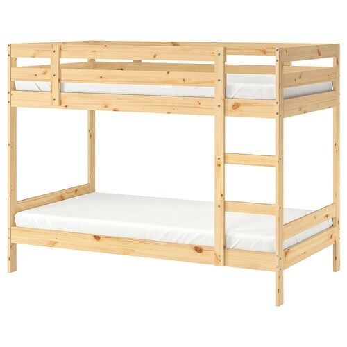 Kura Reversible Bed White Pine Twin With Images Ikea Bunk Bed Ikea Loft Bed Bunk Beds