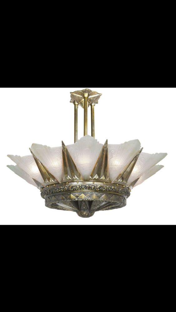 Art nouveaux lamp