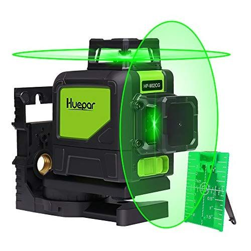 Huepar Self Leveling 360 Laser Level Mute Levelsure 902cg Green Beam 150 Ft Vertical Horizontal Line With Mag Laser Levels Woodworking Hand Tools Green Laser