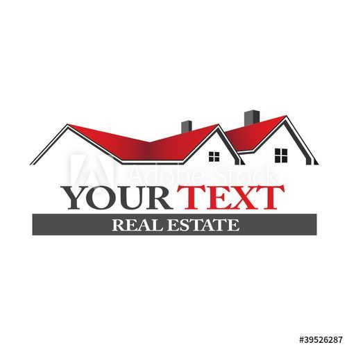 Real Estate Houses Home Logo Real Estate Houses Real Estate Roofing Logo