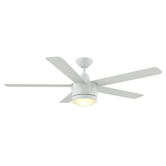 home decorators collection merwry 52 in white indoor led ceiling fan sw1422wh the