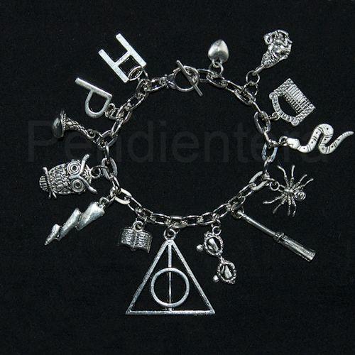 Pulsera conceptual Las reliquias de la muerte, Harry Potter, de J. K. Rowling: