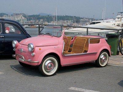 Pink car for Benny