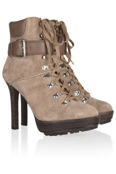 KORS MICHAEL KORS  Meridian lace-up suede ankle boots