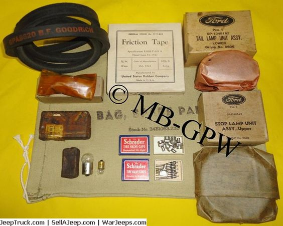 Original Wwii Nos Willys Mb Ford Gpw Spare Parts