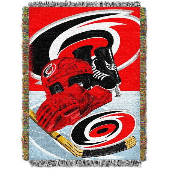 Carolina Hurricanes NHL Woven Tapestry Throw Blanket (Home Ice Advantage) (48x60)