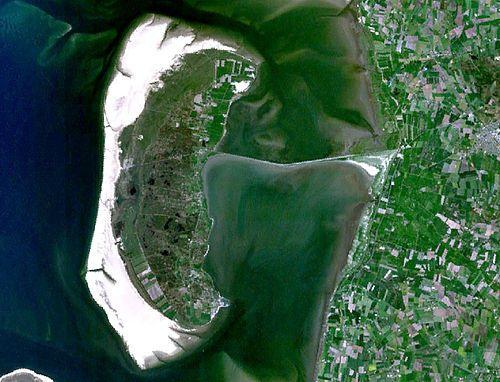 Satellitbild över Rømø