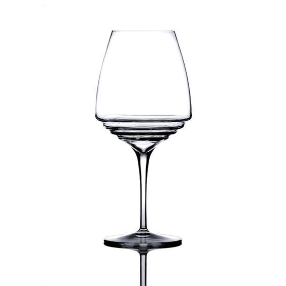 Italian crystal wine glasses, love the design