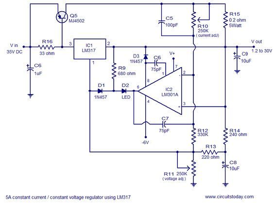 Switch mode constant current source circuit project elektronik