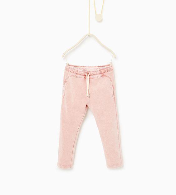 Pantalon en molleton effet délavé à l'acide