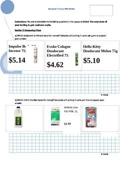 Printables Credit Card Worksheet credit card statement the unit and cards on pinterest finance worksheet buying terms statements