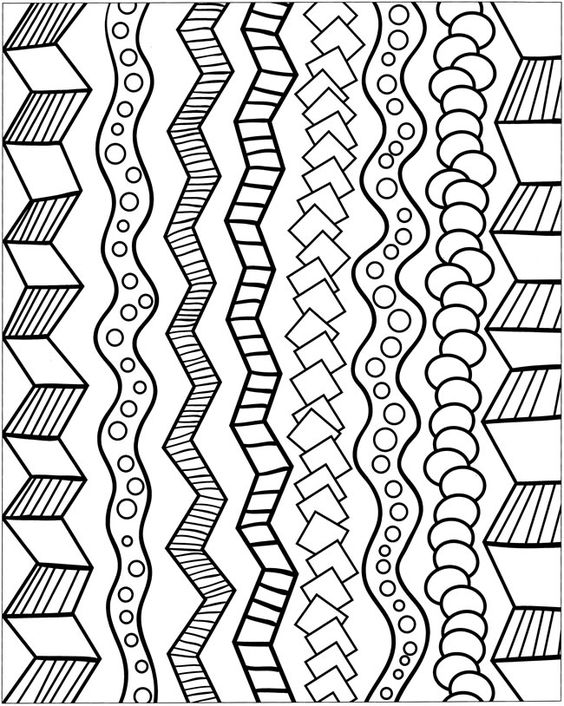 """Zentangle designs to """"steal"""". Very simple perhaps these may be but really good for bordering work among other things ;)"""