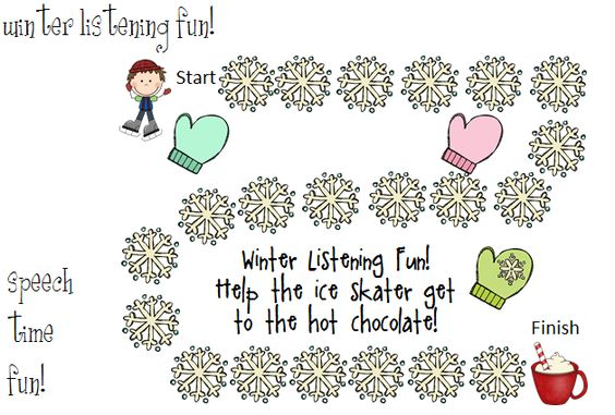 Speech Time Fun: Winter Listening Fun!-categories, sequencing, coloring and more! Pinned by SOS Inc. Resources.  Follow all our boards at http://pinterest.com/sostherapy  for therapy resources.