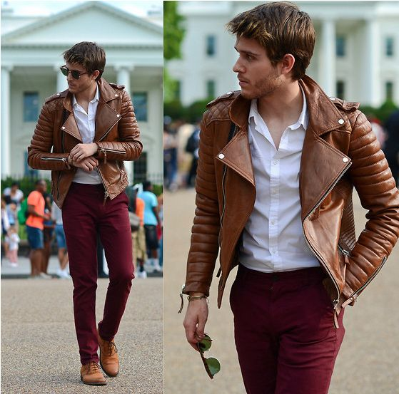 Cómo Combinar Un Pantalón Vino Tinto Moda Para Hombres Icon