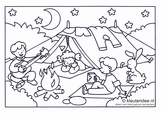 Pinterest the world s catalog of ideas for Camping coloring pages for preschoolers