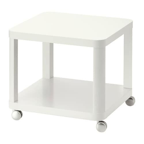 Tingby Side Table On Casters White 19 5 8x19 5 8 Ikea Ikea Side Table White Furniture Living Room Ikea