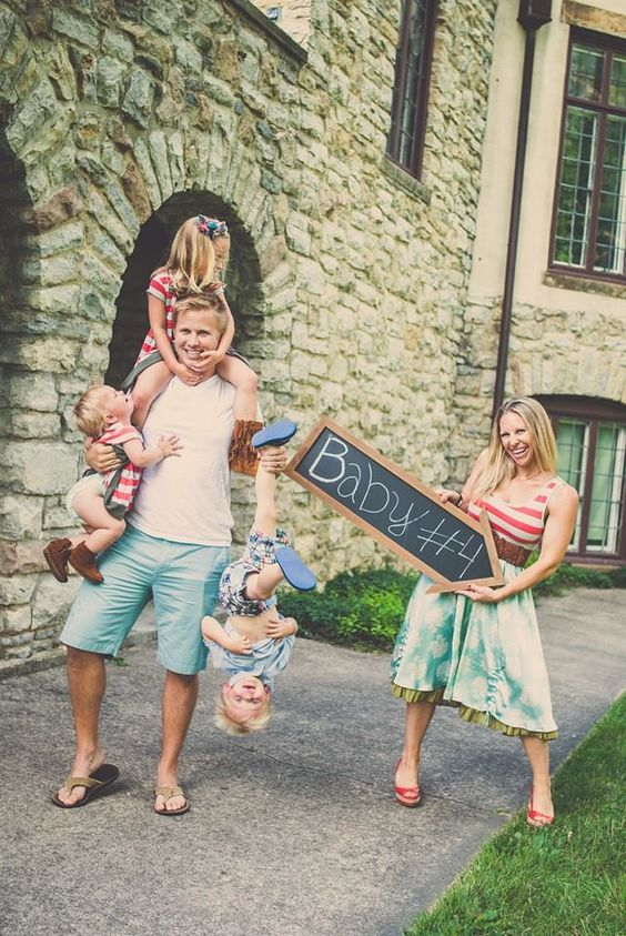 BABY NUMBER 4 ANNOUNCEMENT BABY 4 Pinterest – Announcing Baby Ideas