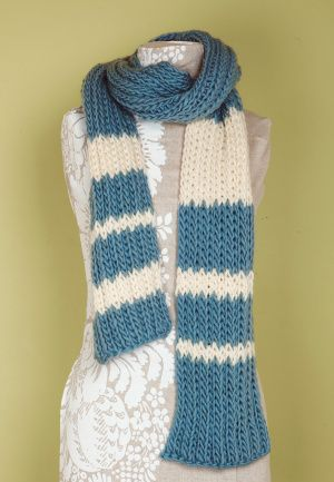 Fleur De Lis Knitting Pattern : Loom Double Knit Rib Scarf Yarns, Patterns and Striped scarves