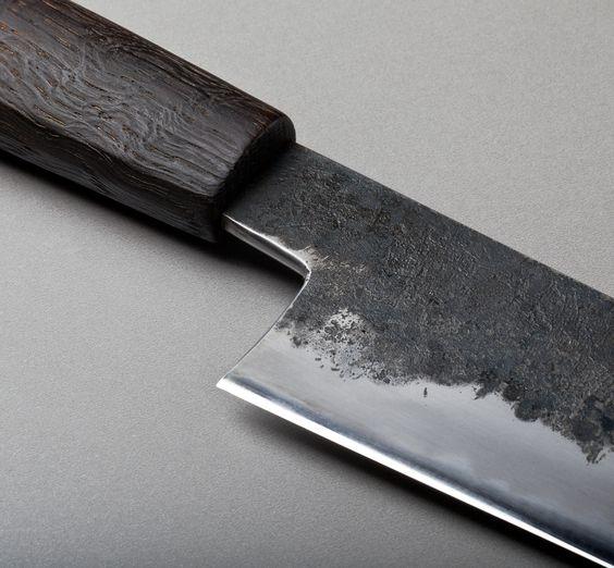 260mm San Mai Sujihiki custom chef knife hand forged by Bryan Raquin.