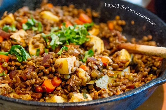 Lentils with Winter Vegetables