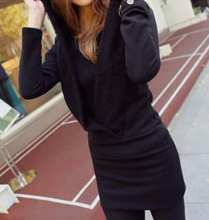 Buy 'REDOPIN � Hooded Knit Dress' with Free International Shipping at YesStyle.com. Browse and shop for thousands of Asian fashion items from South Korea and more!