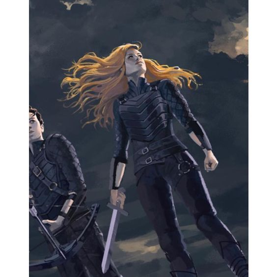 cassieclare1 Emma and Julian hold off the Faerie Riders. Detail (small section) from Alice Duke's exclusive Lord of Shadows San Diego Comicon poster! SDCC attendees can pick it up at the Simon and Schuster booth -- more details to come soon!