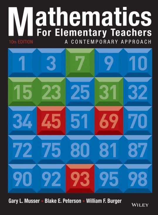 Mathematics For Elementary Teachers A Contemporary Approach 10th