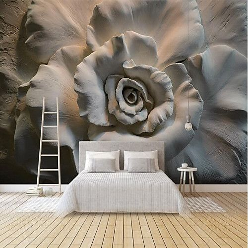Floral Art Deco 3d Home Decoration Classic Modern Wall Covering Canvas Material Adhesive Required Mural Room Wallcovering 2020 Us 81 59 In 2020 Mural Wallpaper Rose Wall Art Wall Murals