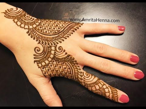 How To Draw Easy Indian Mehendi Classic Traditional Henna Mehndi