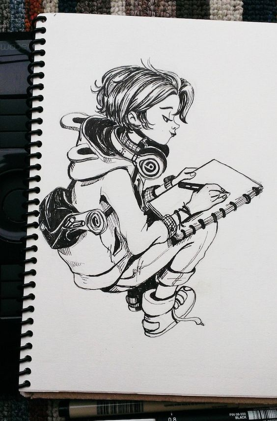 "Theres a few photos of the challenge ""Inktober 2014 """