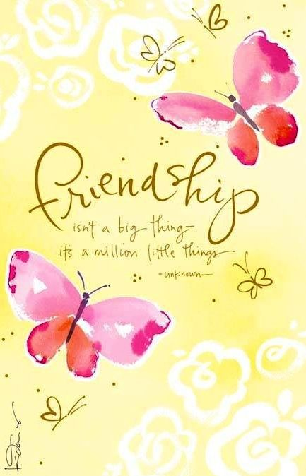Friendship quote via Living Life at www.Facebook.com/LivingLife2TheFull