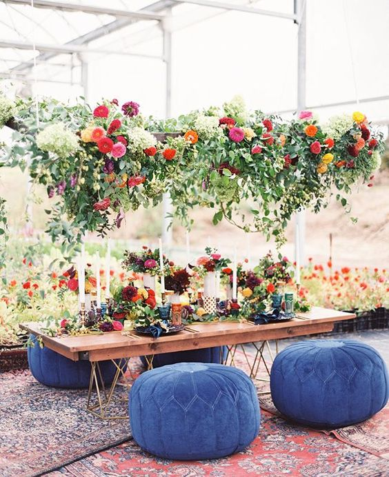 Jewel Tone Wedding Flowers: Greenery Wedding Chandeliers { Whimsical To Elegant Wedding }