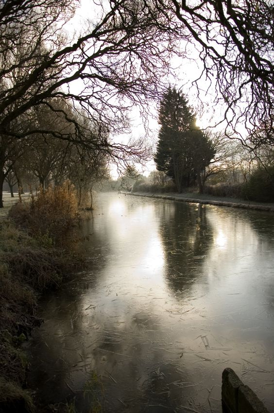 Photograph Winter morning ice on the Oxford Canal by Simon Dingley on 500px