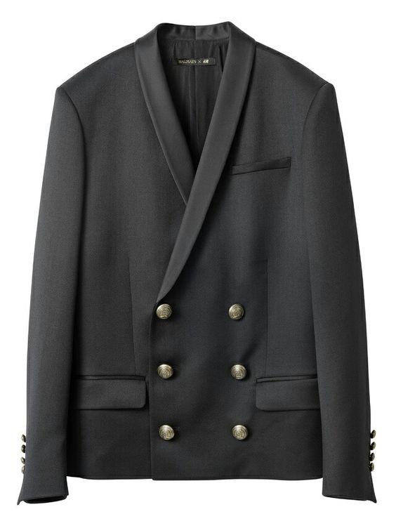 Balmain for H & M - 2015  - Homme - blazer en laine 129€