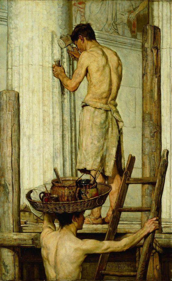 Römische Bauleute, Christian Rohlfs