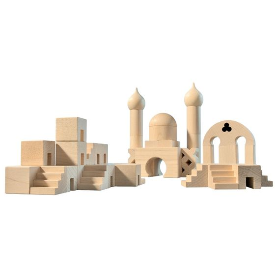 Haba house of education Middle Eastern wooden block set | hardtofind.