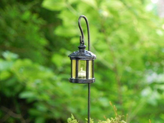 Miniature Lantern for fairy garden or terrarium accessory ROUND black - one by TheLittleHedgerow on Etsy https://www.etsy.com/listing/124731276/miniature-lantern-for-fairy-garden-or