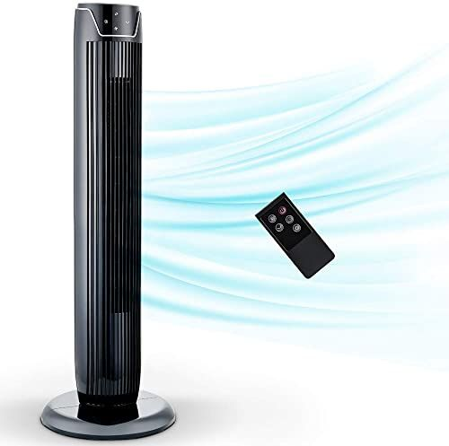 Amazing Offer On Tower Fan Oscillating Fan Quiet Cooling 3 Wing Mode 3 Speed And Remote Control 7h Timer Led Display Low Noise Whole Room Floor Fan 36 In 2020