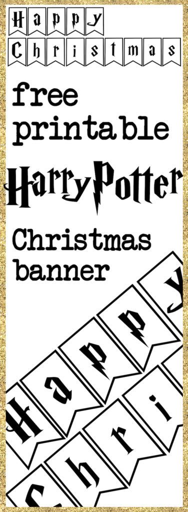 Print yourself a Harry Potter Christmas banner - free printable
