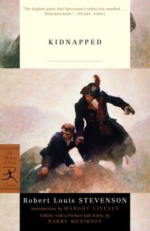 KIDNAPPED by Robert Louis Stevenson (1886).    Independent study guide found in Janice Campbell's Excellence in Literature's English I : http://everyday-education.com/literature/eng1.shtml