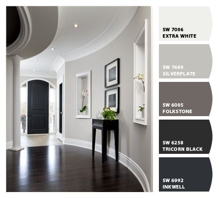 paint colours - for when I paint my room to go with my new black and white bedding