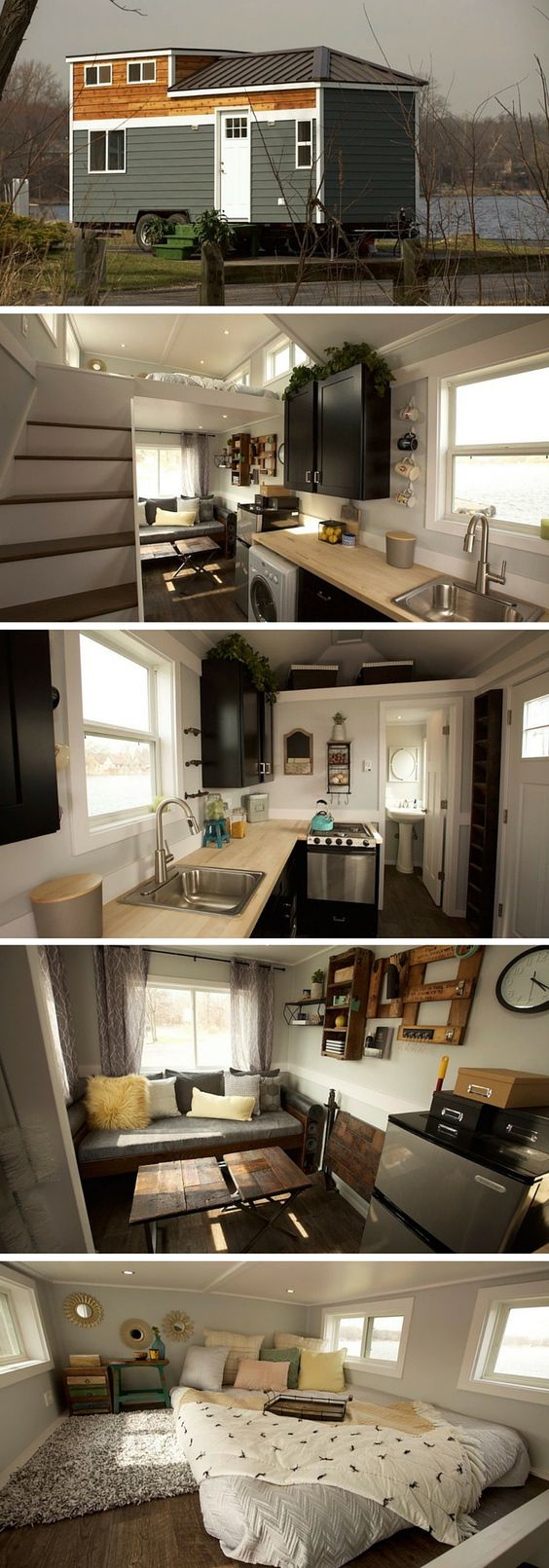 Super Easy to Build Tiny House Plans House Kitchen living and