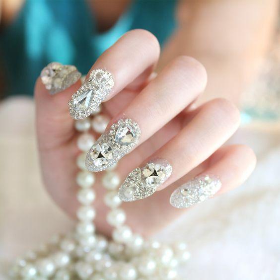 Trouver plus Faux ongles Informations sur 2016 nouveau mode 24 pcs / boîte mariée faux ongles