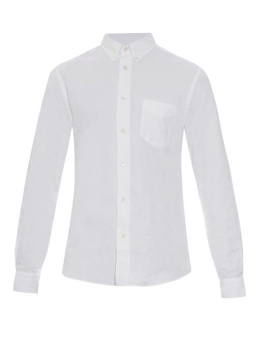 ACNE STUDIOS Isherwood Cotton-Drill Oxford Shirt. #acnestudios #cloth #shirt