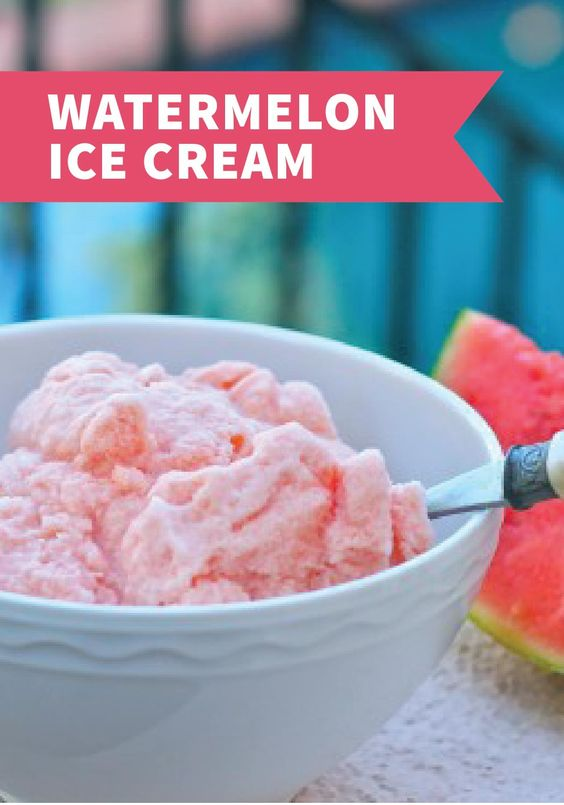 This Watermelon Ice Cream recipe is delicious and refreshing. Try this sweet summer dessert with your family today!