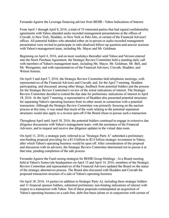 Board meeting held at Yahoou0027s Sunnyvale - Fernando Aguirre BEHR - stock purchase agreement template