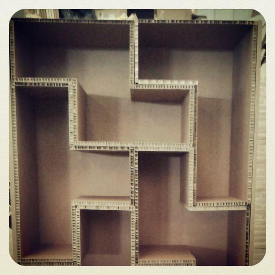 Mueble de cartón Tetris:
