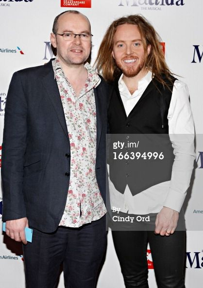 News Photo: Writers Dennis Kelly and Tim Minchin attend the…