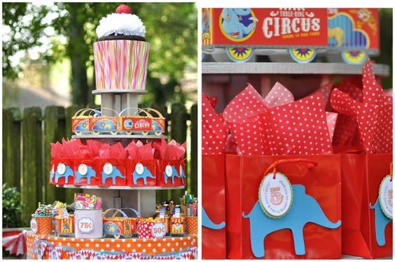 {Real Party} Circus Carnival Candy Bar on http://pizzazzerie.com